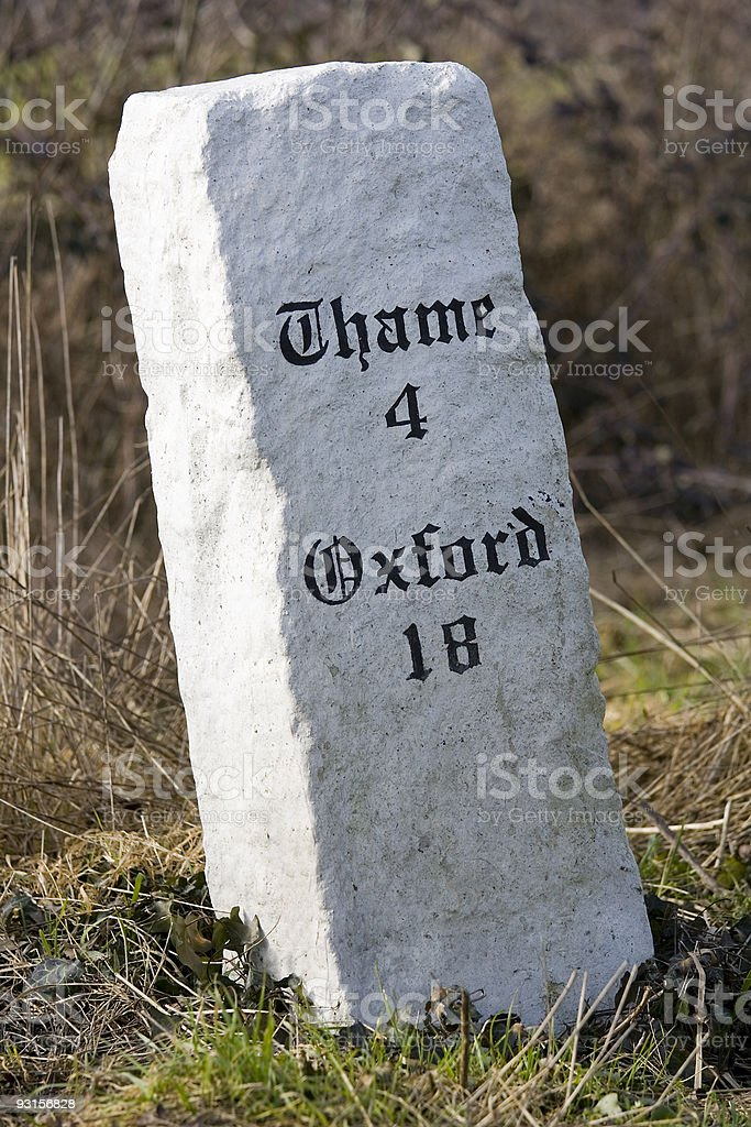 Milestone stock photo