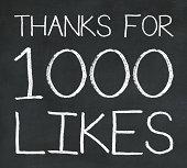Milestone post on social media - 1000 likes / fans
