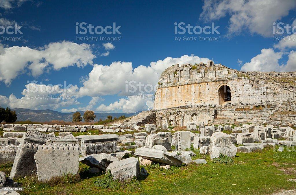 Miletus Theatre, Milas, Turkey stock photo
