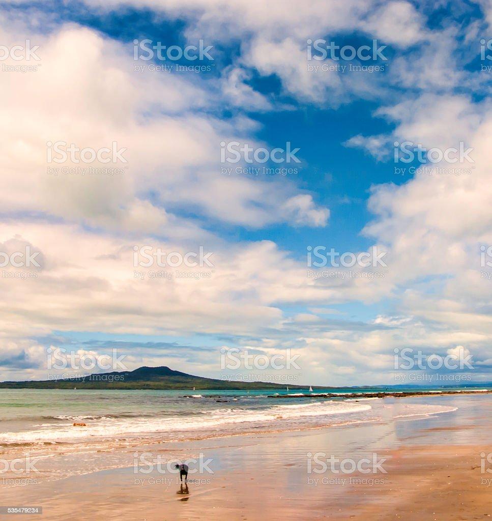 Milford beach stock photo