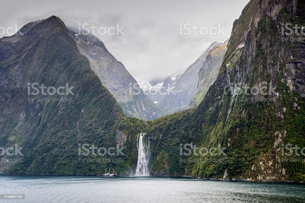 Milford Sound Fjord - South Island of New Zealand stock photo