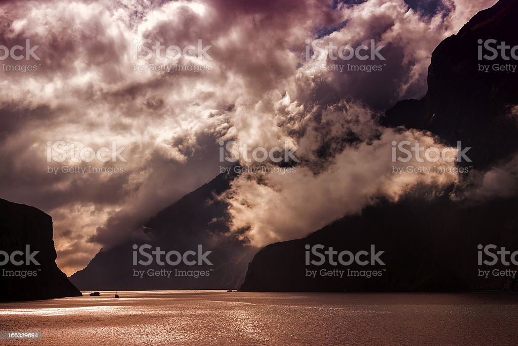 Milford Sound New Zealand royalty-free stock photo