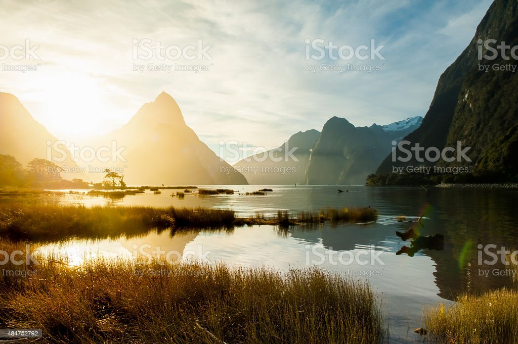 Milford Sound, South Island, New Zealand stock photo