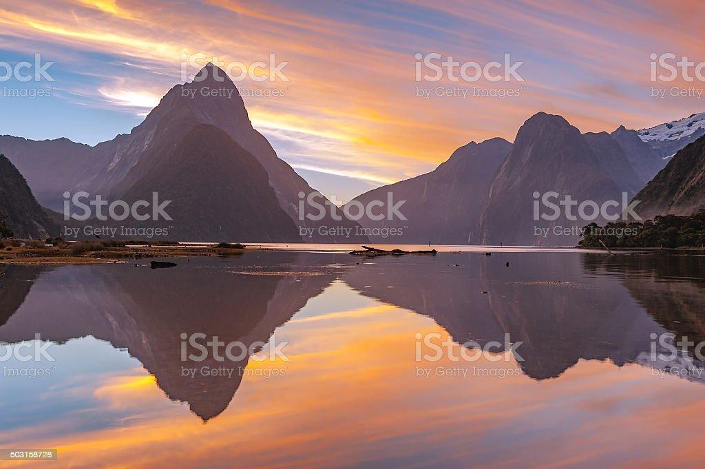 Milford Sound, South Island, New Zealand royalty-free stock photo