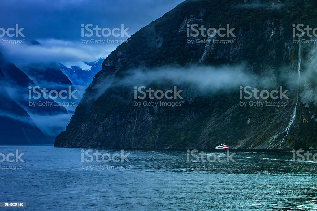 milfordsound in fiordland national park important traveling destination in new zealand stock photo