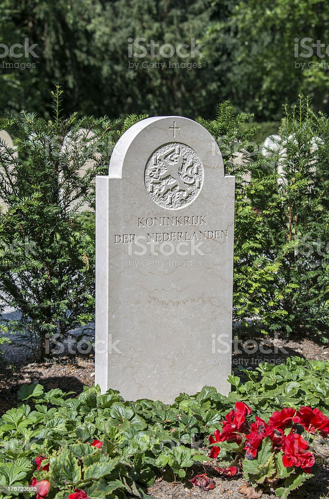 militairy cementry in Holland stock photo
