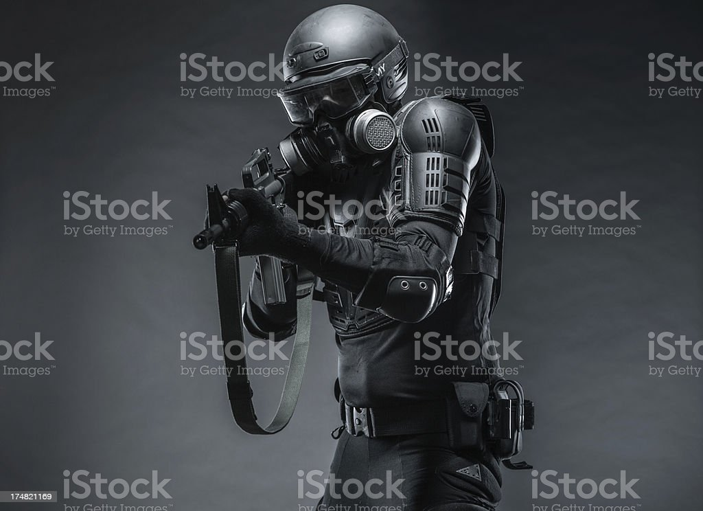 Military Action Against Terrorists royalty-free stock photo
