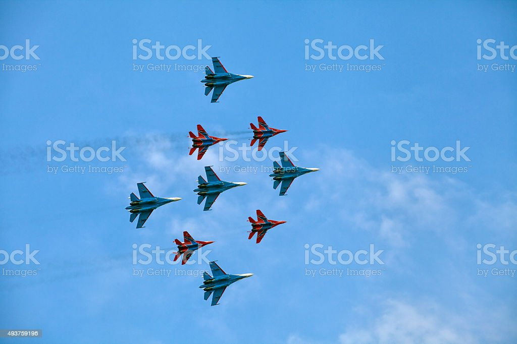 Military air show stock photo