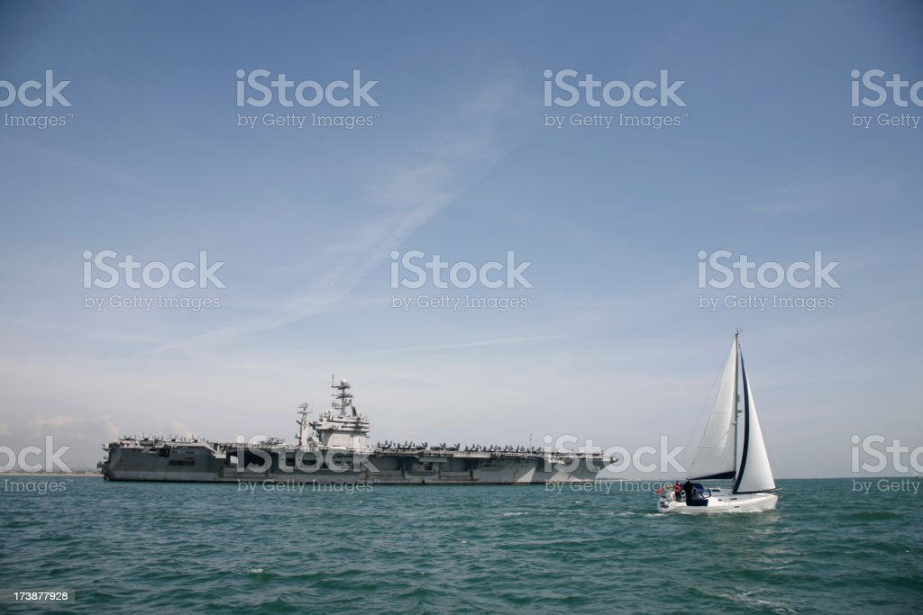 Military Aircraft Carrier royalty-free stock photo