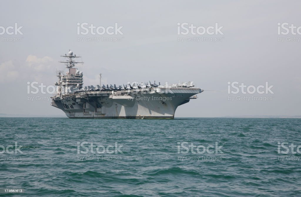 Military Aircraft Carrier stock photo