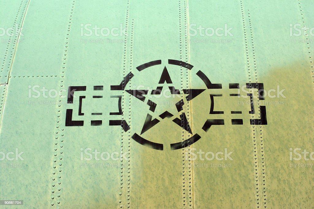 military aircraft insignia royalty-free stock photo