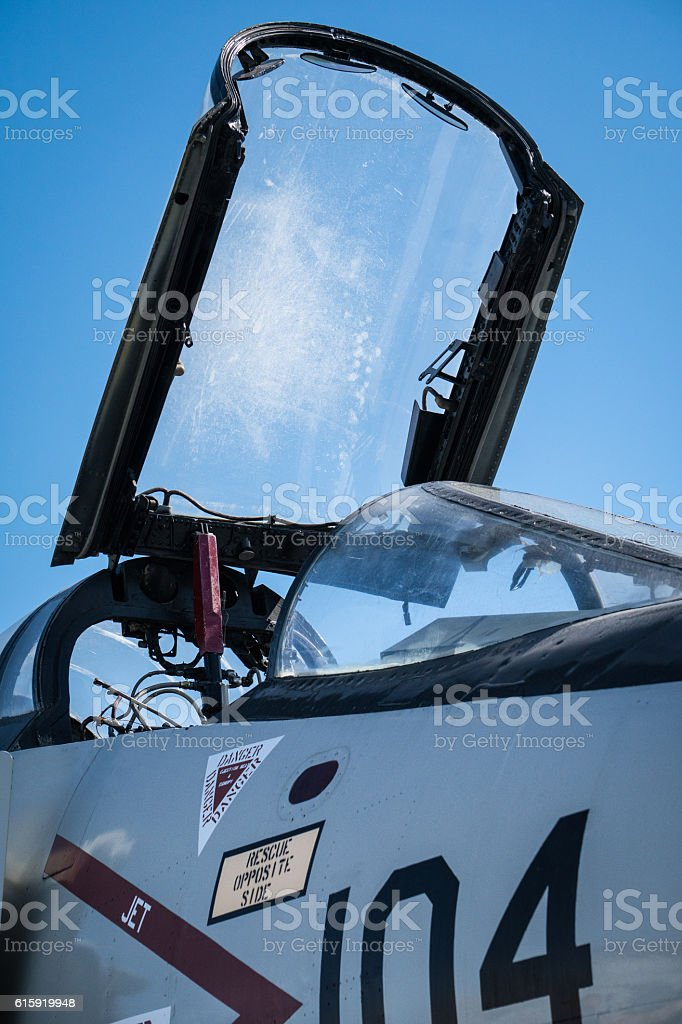 Military aircraft stock photo