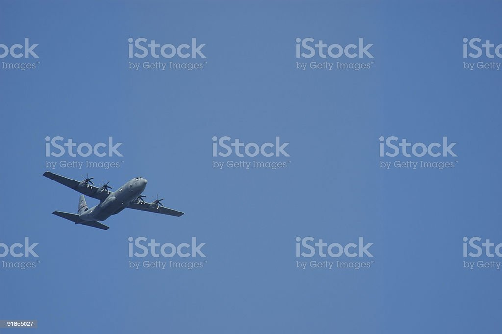 C130 military aircraft royalty-free stock photo