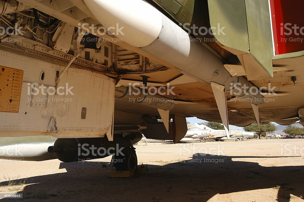 Military Aircraft Undercarriage stock photo