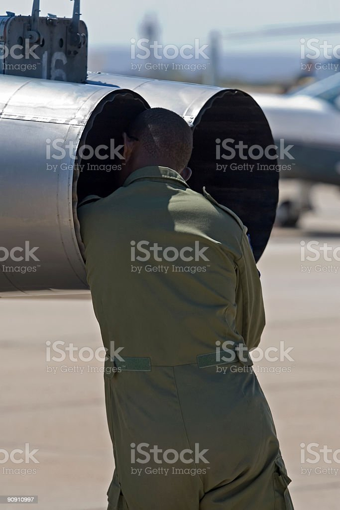 military airplane pilot royalty-free stock photo