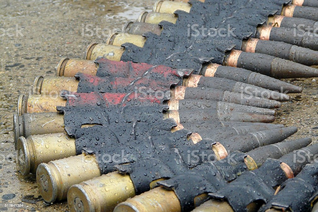 Munitions de militaire photo libre de droits