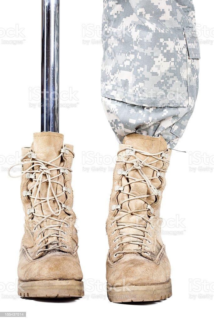 Military amputee stock photo