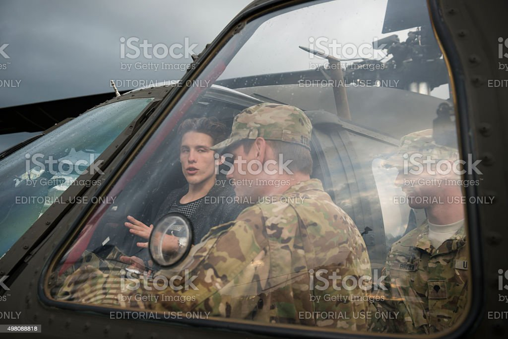 U.S. Military and public diplomacy in the Baltics stock photo