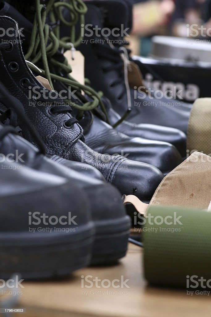 Military And Working Boots royalty-free stock photo