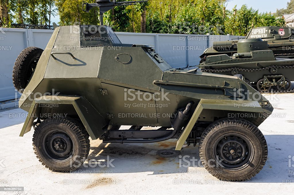 Military armored car of BA-64 stock photo