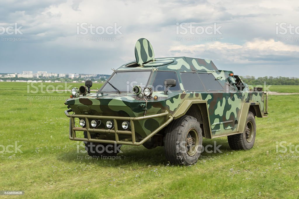 Military armored vehicle stock photo