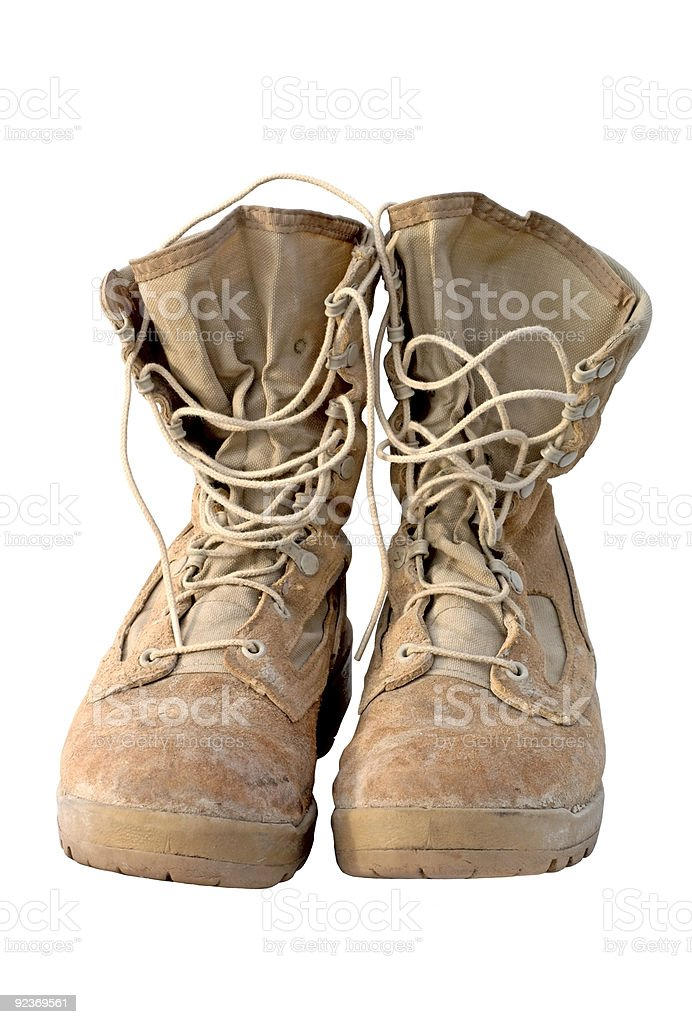 Military- Army Boots royalty-free stock photo