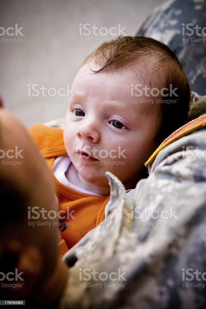 Military baby royalty-free stock photo