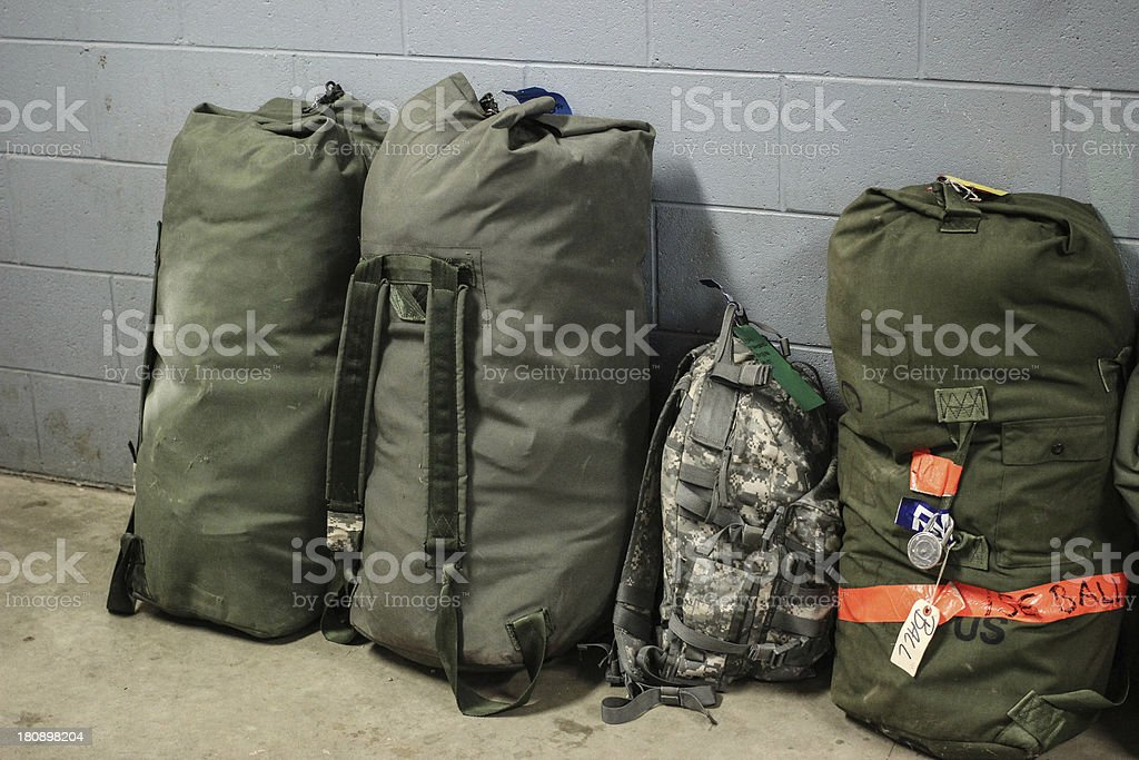 Military Bags royalty-free stock photo