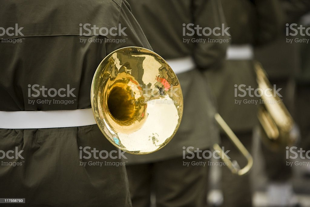 Military Band. Color Image stock photo
