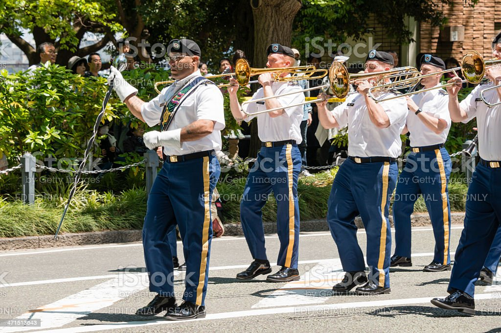 Military band royalty-free stock photo