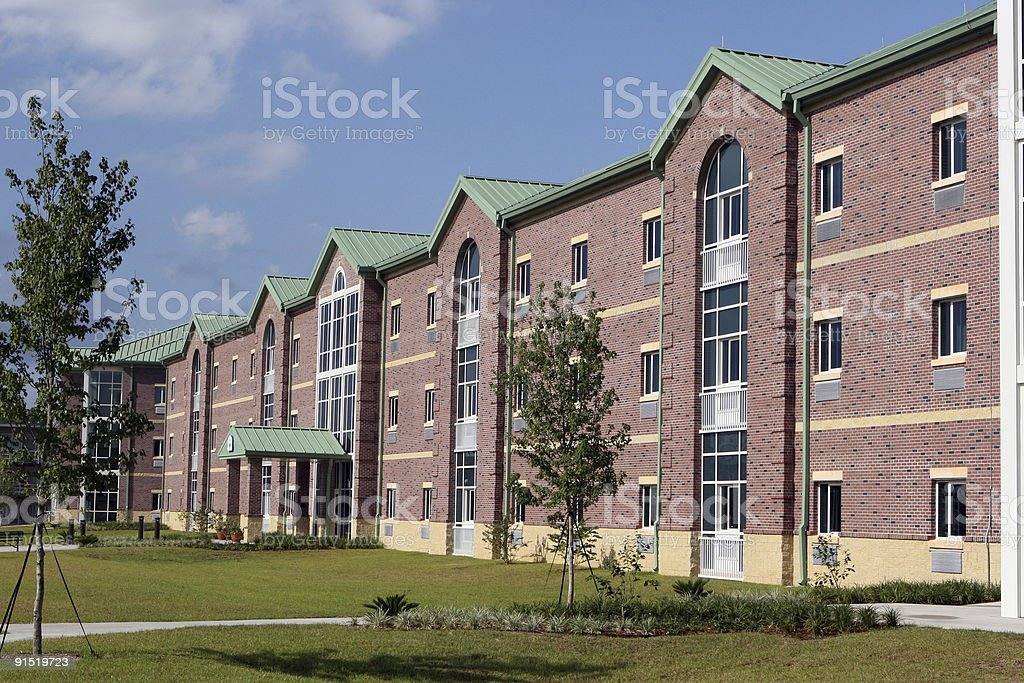Military barracks with brick facings stock photo