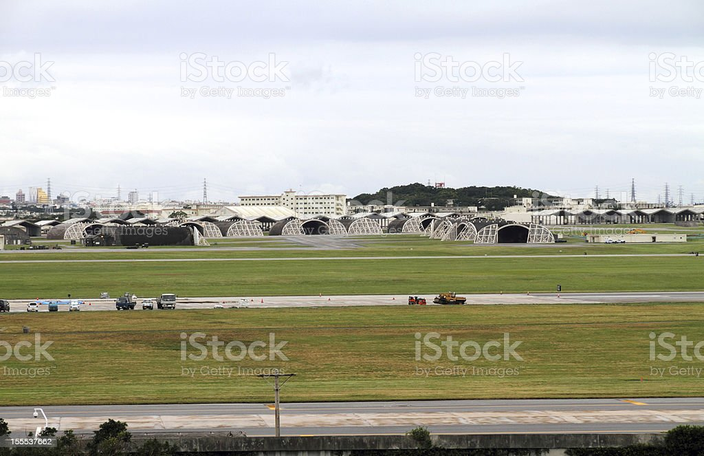 US military base in Okinawa, Japan stock photo