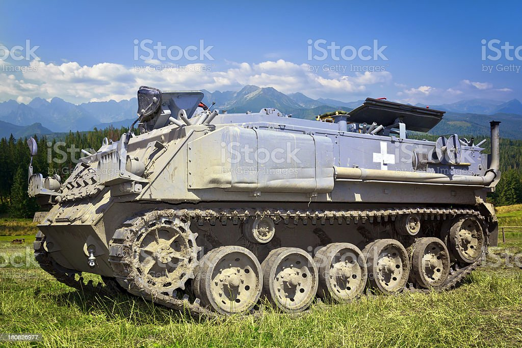 Military battlefield transport vehicle stock photo