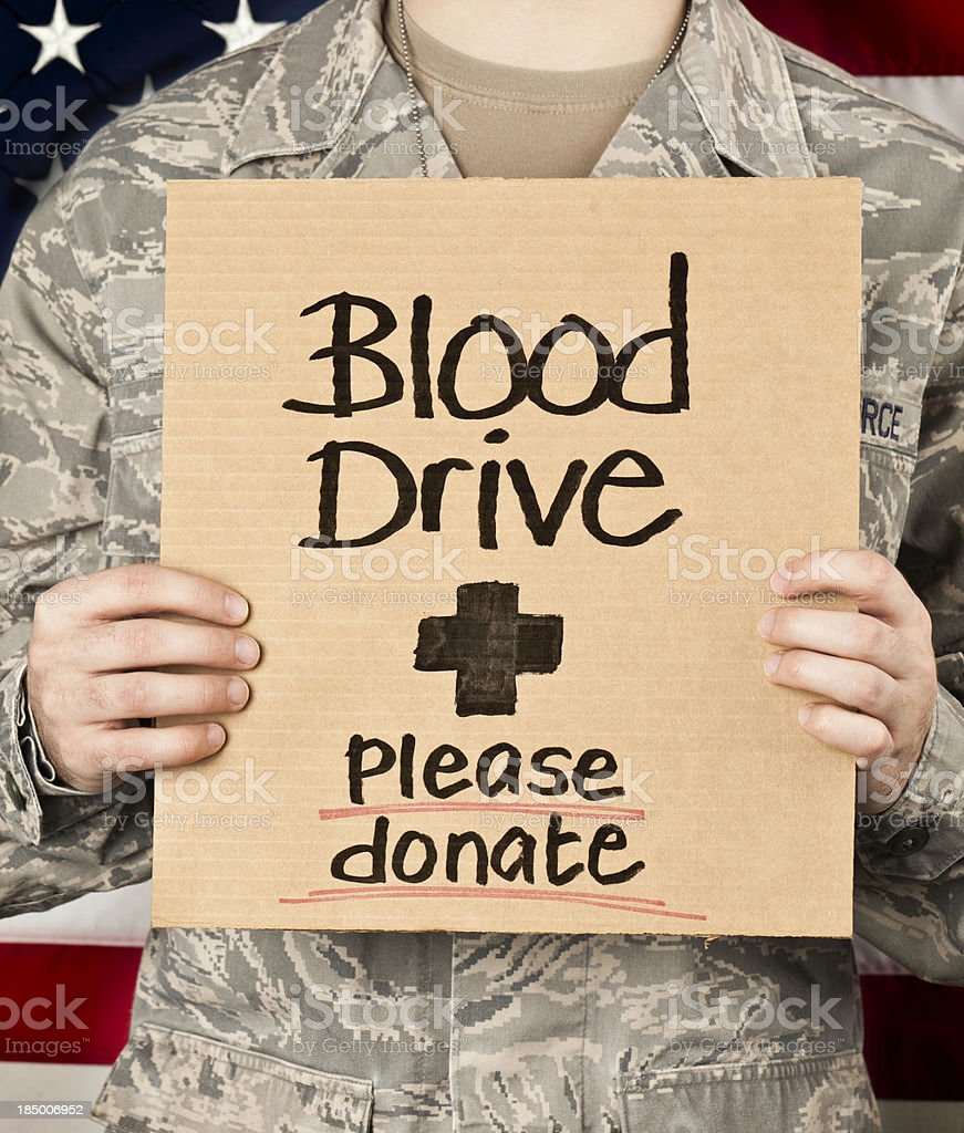 Military Blood Drive royalty-free stock photo
