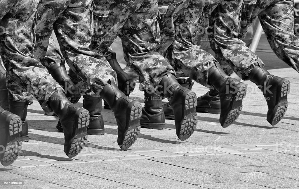 Military boots 4 stock photo