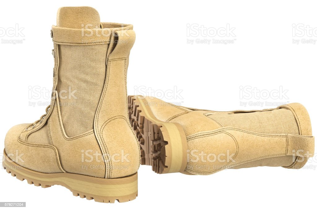 Military boots army gear stock photo