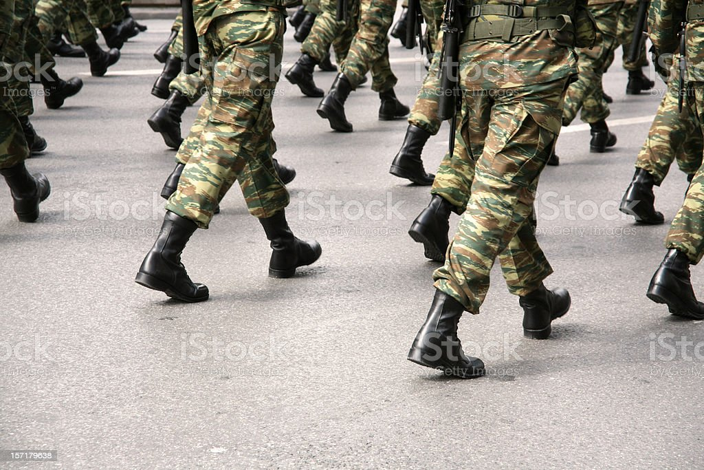 Military boots stock photo