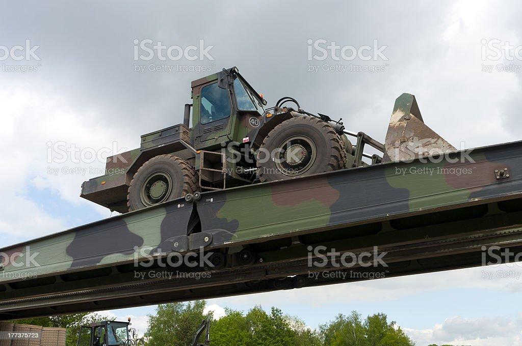 military bridge stock photo