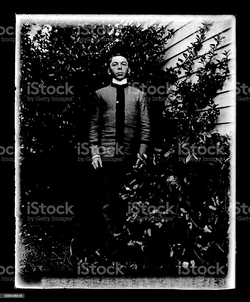 Military Cadet, Circa 1890 stock photo