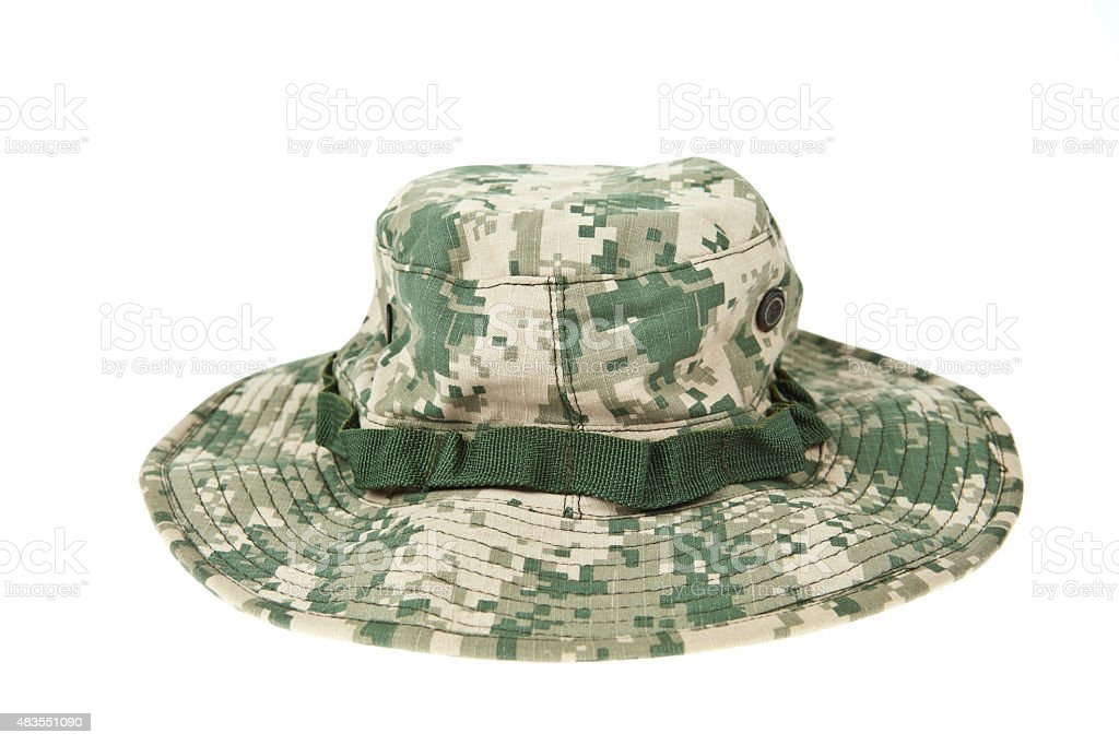 Military camouflage hat ACU stock photo