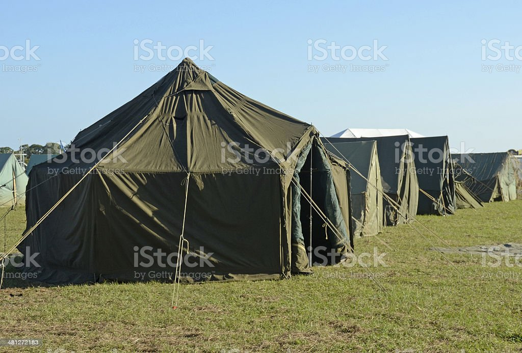 Military camp stock photo