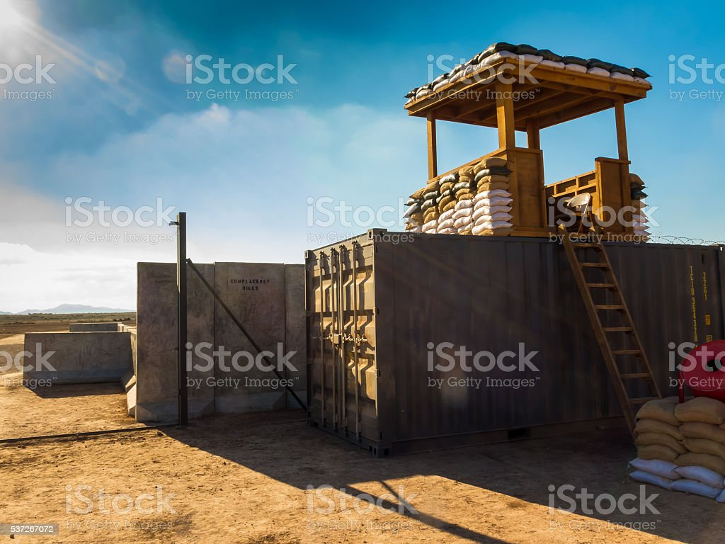 Military camp somewhere in the world III stock photo