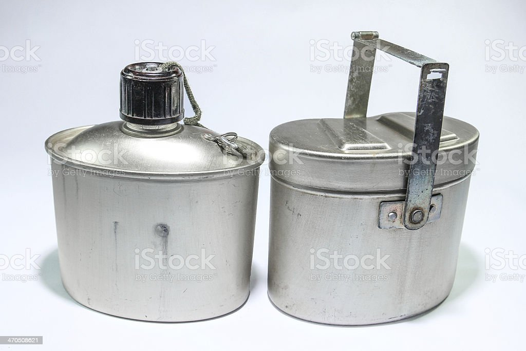 Military canteen3 stock photo