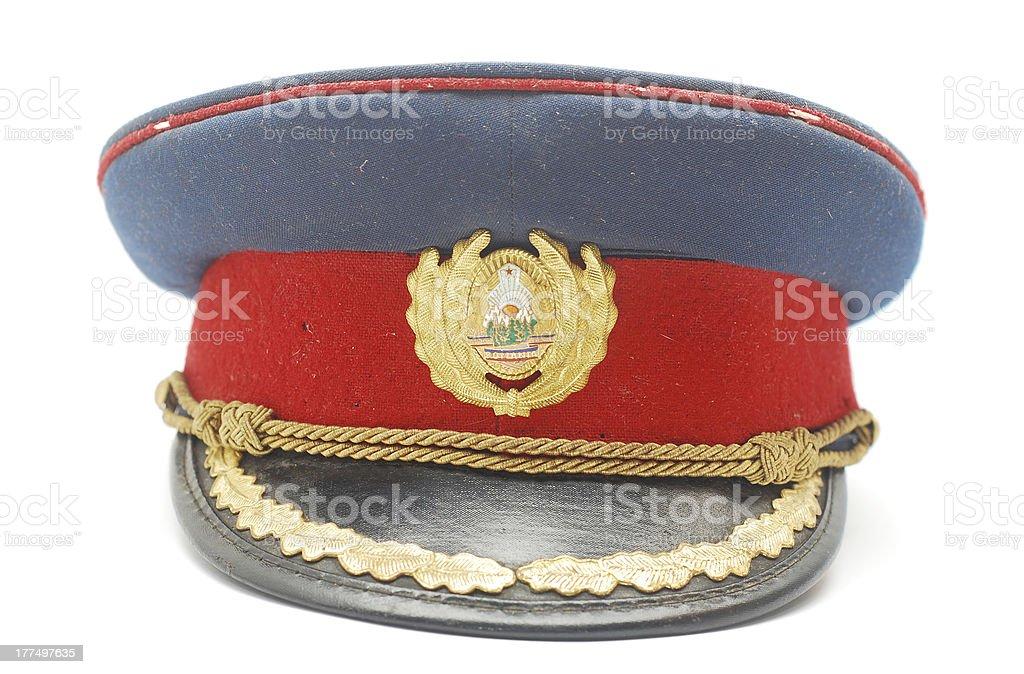 military cap stock photo