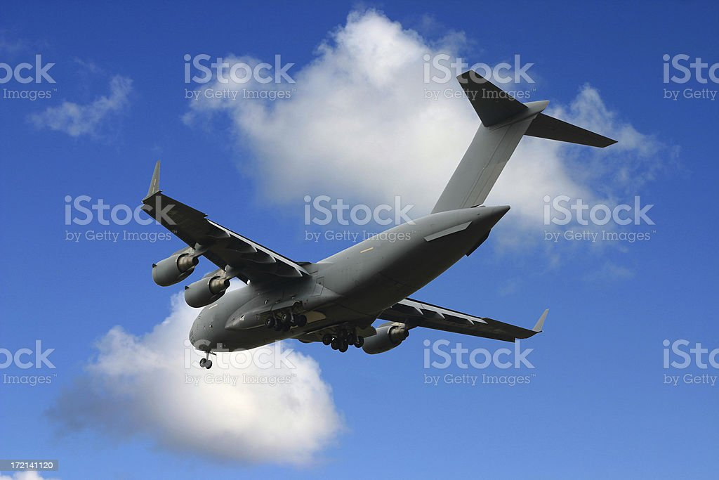 Military cargo airplane royalty-free stock photo
