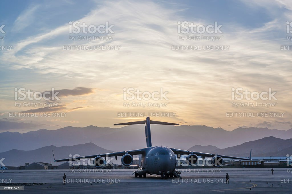C-17 Military Cargo Transport Aircraft stock photo