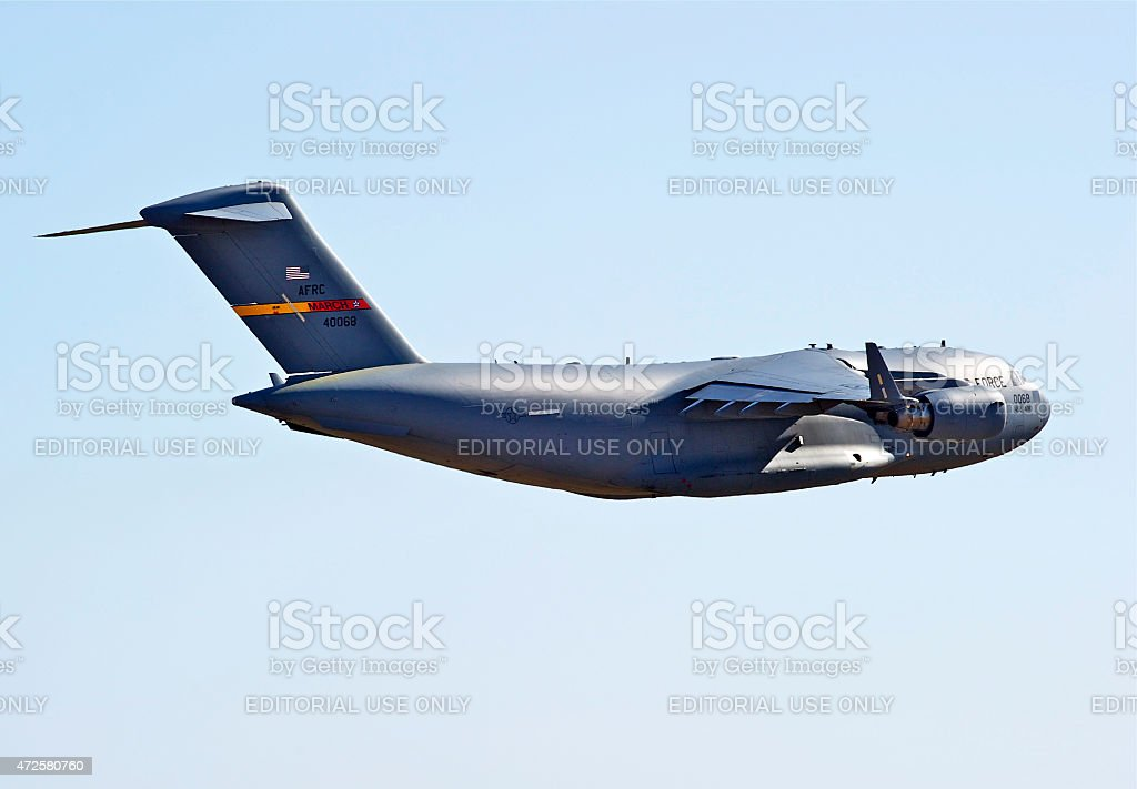 C-17 Military Cargo Transport Aircrafts stock photo