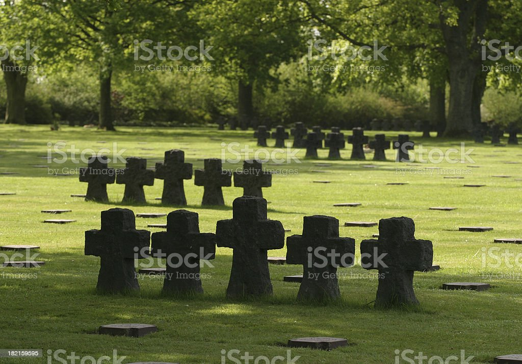 military cemetary in France stock photo