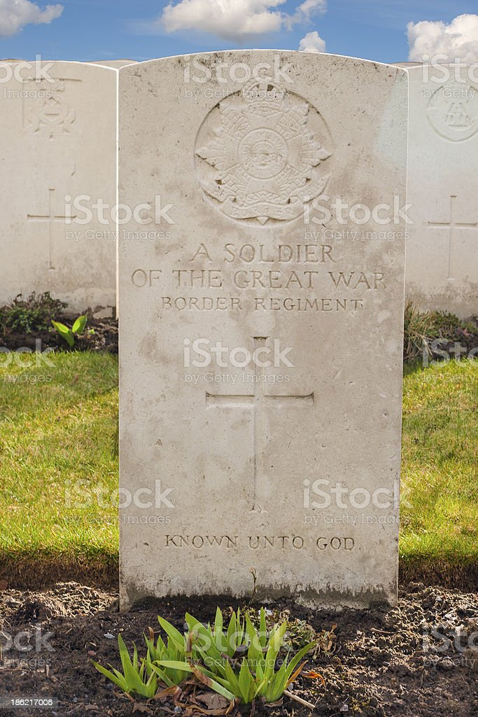 Military cemetery 1st great world war flanders belgium stock photo