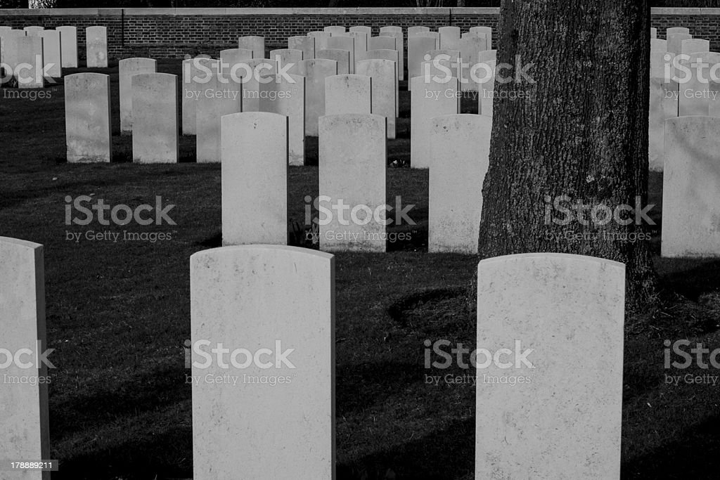 Military cemetery 1st world war flanders royalty-free stock photo
